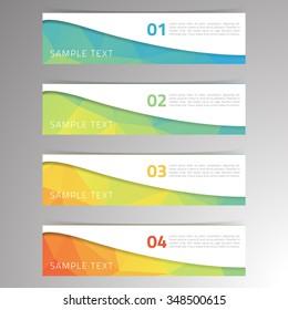 Modern design vector banner low polygon background for business set, eps10 vector illustration. Geometric background.