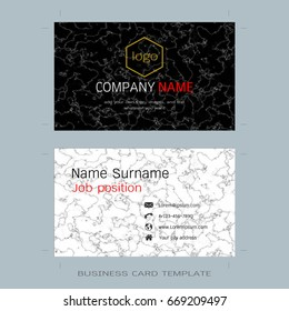 Modern designer business card layout templates stock vector modern designer business card layout templates marble texture background easy to use by print accmission Choice Image