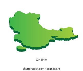 Modern Detail Isometric 3D Map - China