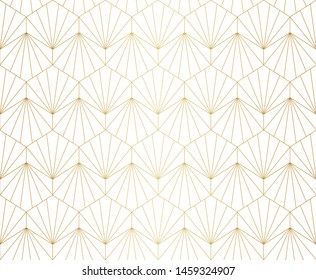 Modern diamond art deco seamless pattern. Trendy abstract texture. Vector geometric background.