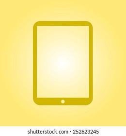 Modern digital tablet PC icon. Flat design icon. vector EPS 10.