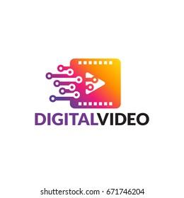 Modern Digital Video Logo template designs