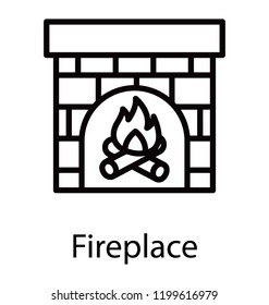 A modern domestic pellet stove fireplace or furnace icon image