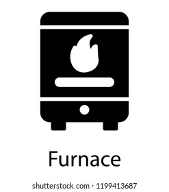 A modern domestic pellet stove or furnace icon image