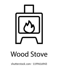 A modern domestic pellet stove icon image
