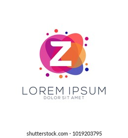 modern dot abstract logo designs letters z