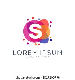modern dot abstract logo designs letters s