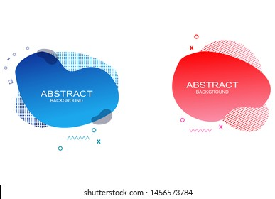 modern dynamic fluid graphic elements set. Dynamical colored forms and line. Gradient abstract banners with flowing liquid shapes. Template for the design of a logo, flyer or presentation