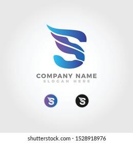 modern eagle eye in letter S logo template
