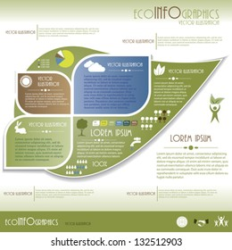 Modern Ecology infographics. Design template . Vector illustration