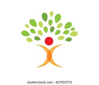Modern Education Logo - Future Life Tree Symbol