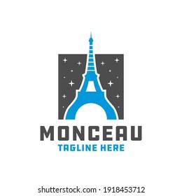 modern eiffel tower logo design
