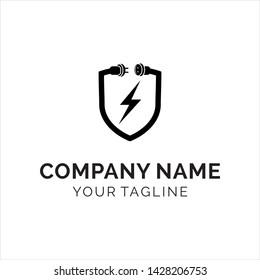 modern electricity security logo simple