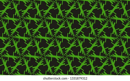 Modern elegant background Triangles, lines.. For your design. Vector seamless pattern in geometric style. Dark green color