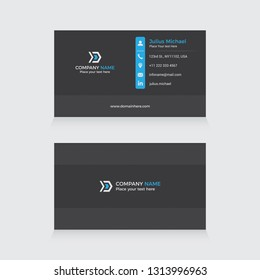 Modern & Elegant Business Card Template Vector