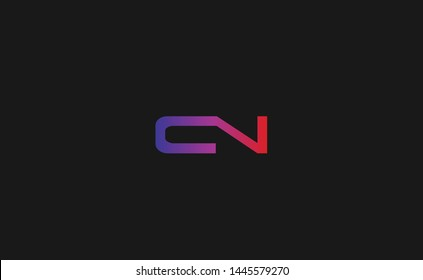Modern, elegant and creative CN C N letter logo design template