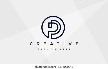 Modern elegant creative P Logo Design and template. PP icon initial Based Monogram and Letters in vector.
