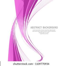 Modern elegant creative wave background