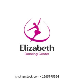 Modern Elegant Dancer Logo Design Idea