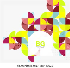 Modern elegant geometric circles abstract background. Vector template background for workflow layout, diagram, number options or web design
