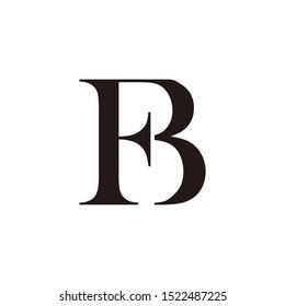 modern and elegant Initial or Monogram FB for logo design inspiration