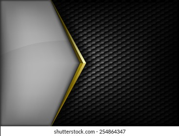 Modern elegant layout. Gold arrow between gray and black spaces. Version without sample text. You can find version with sample text in my gallery.