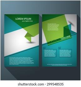 Modern elegant line brochure / flyer design, eps10 Vector art.