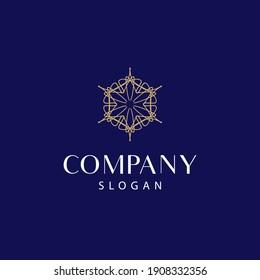 modern and elegant mandala logo, floral mandala logo. editable and easy to use on both print and digital media.