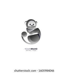 modern and elegant monkey logo