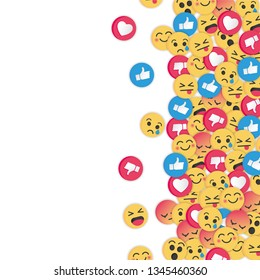 Modern emoji design on white background. Social Network emoticons illustration vector.