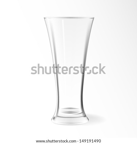 Modern Empty Drinking Vector Glass Cup Stock Vector Royalty Free