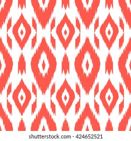 Modern ethnic seamless pattern in bohemian, hipster fashion style. Aztec, Navajo, Mexican wallpaper. Ikat ornament for textile design, home decor, wrapping paper. Vector background.