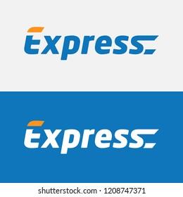 Modern Express logo template