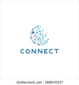 Modern eye-caching high-tech electronics and computer related logo with letter C . The design is bold, professional and memorable. The logo Is reproducible in any single flat color.