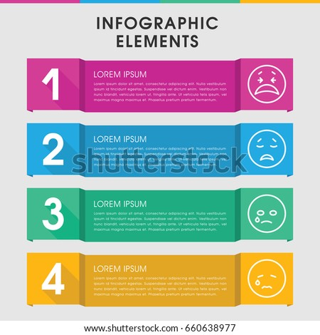 Modern Facebook Infographic Template Infographic Design Stock Vector ...