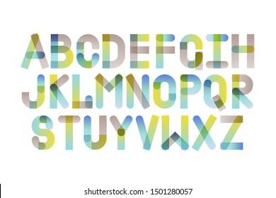 Modern fancy geometry font alphabet. Handwritten font letters. Hand lettering font for your design: logo, slogan, decor postcard, greeting, motivation quotes, positive message
