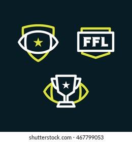 Modern fantasy badges.