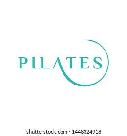 Modern, feminine and clean concept for represent the pilates style - vector.