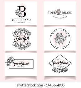 Modern Feminine Logo with elegant business card template