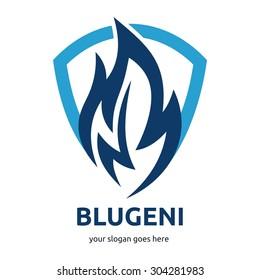 Modern fire logo