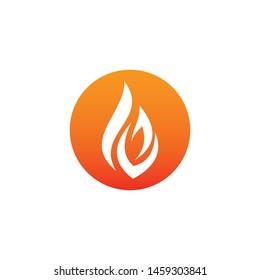 modern fire logo or icon design ,eps 10