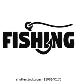 Modern fish hook logo. Simple illustration of modern fish hook vector logo for web design isolated on white background