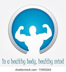 Modern fitness sign