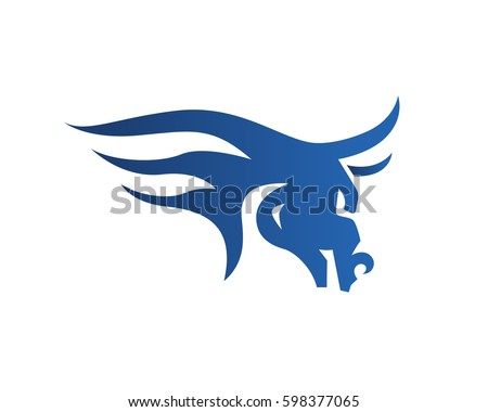 modern flaming blue bull head logo stock vector royalty free rh shutterstock com blue bull logistics suffolk blue bull logistics suffolk