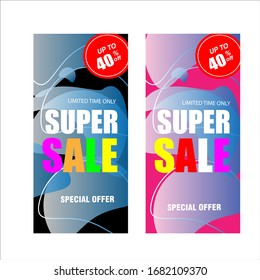 Modern Flash Sale Banner and Poster for social media use template vector background