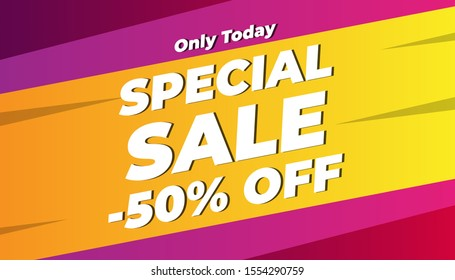Modern Flash sale discount banner and poster social media template promotion. EPS 10 Vector Illustration Background.