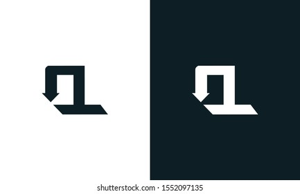 Modern flat abstract letter OL logo. This logo icon incorporate with two abstract shape in the creative process.