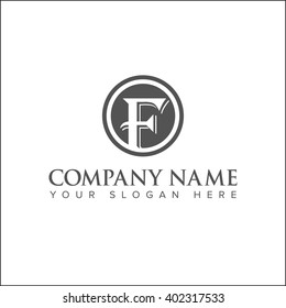 Modern and flat alphabetical logo design inl vector on white background of F