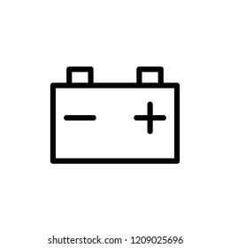 Modern flat battery icon