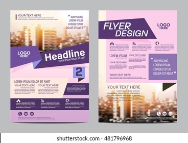 Modern Flat Brochure Layout design template. Annual Report Flyer Leaflet cover Presentation Modern background. illustration vector in A4 size
